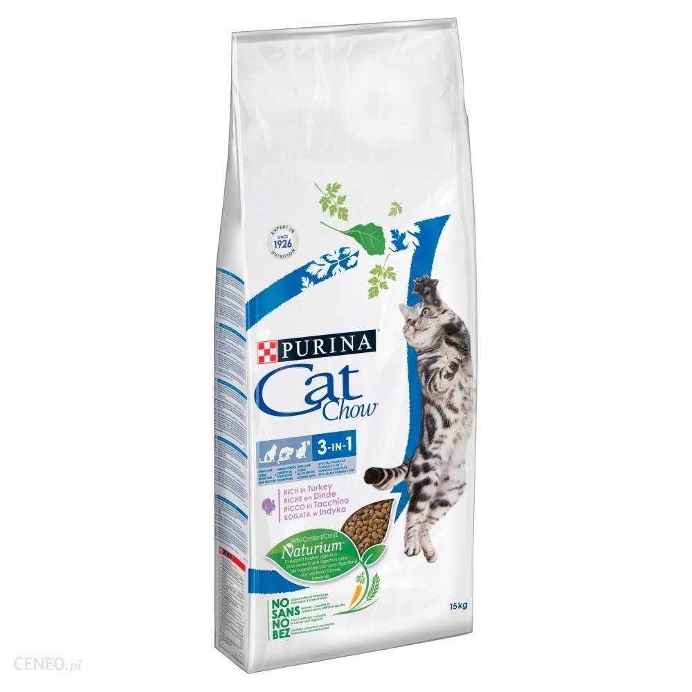 CAT CHOW 3W1 Karma bogata w indyka 15kg