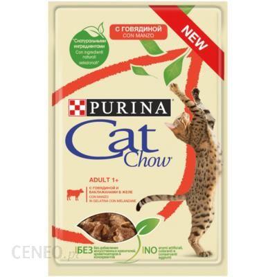 Cat Chow Adult Wołowina i bakłażan Saszetka 85g