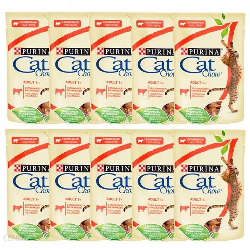 Cat Chow wołowina bakłażan 20x85g