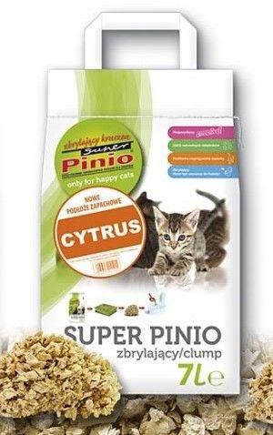 Certech Żwirek Super Pinio *Kruszon* Zbrylający Cytrus 7L.