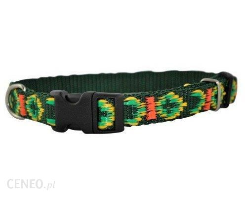 CHABA Obroża taśma ozdobna regulowana zielona 16mmx40cm