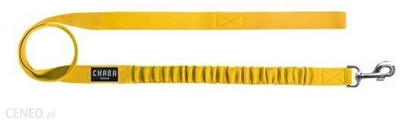 Chaba Smycz Z Amortyzatorem Żółta 122Cm 15Mm