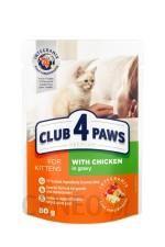 Club 4 Paws Kitten Chicken Saszetka Kocięta Sos 80G