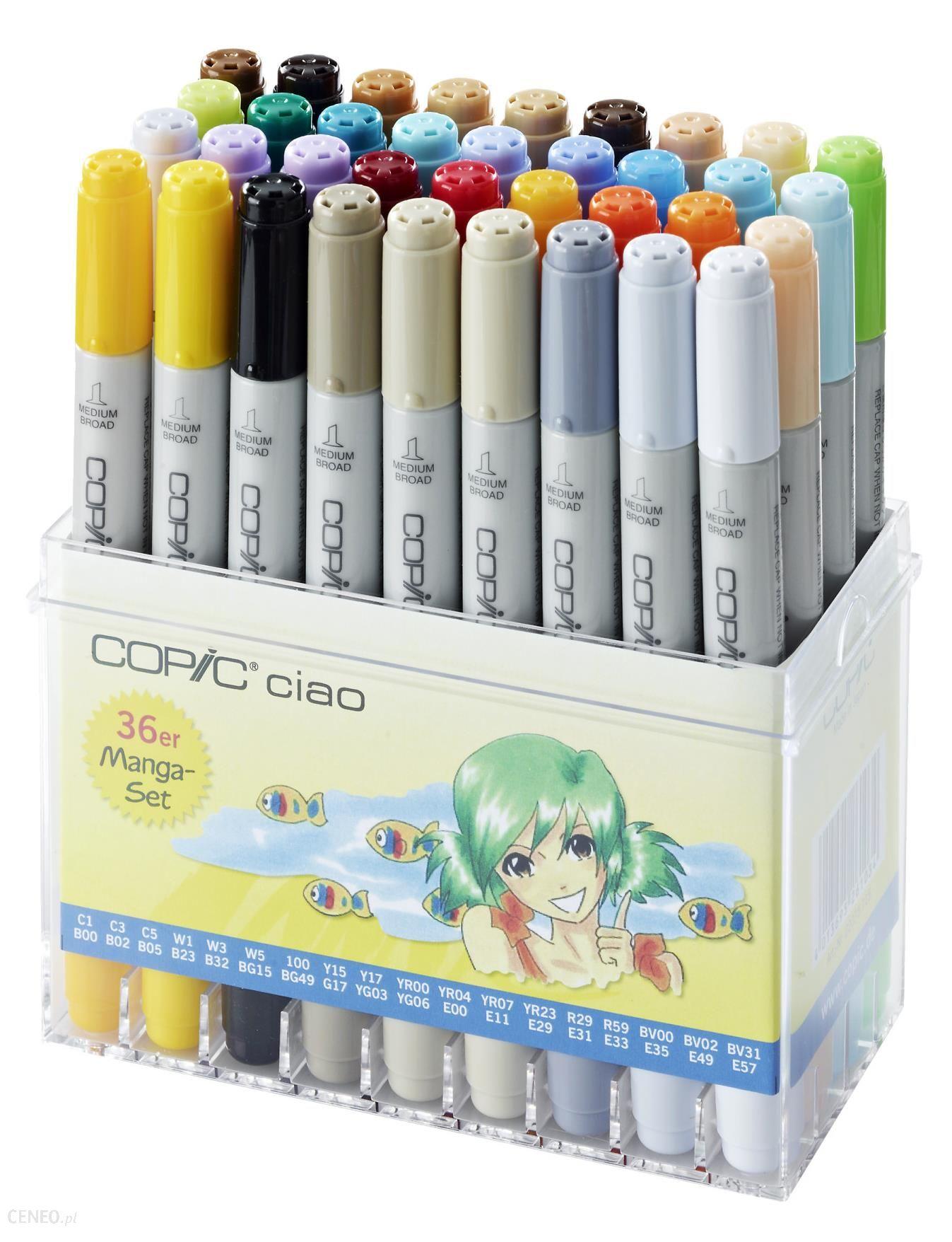 COPIC Ciao Markery Manga 36szt