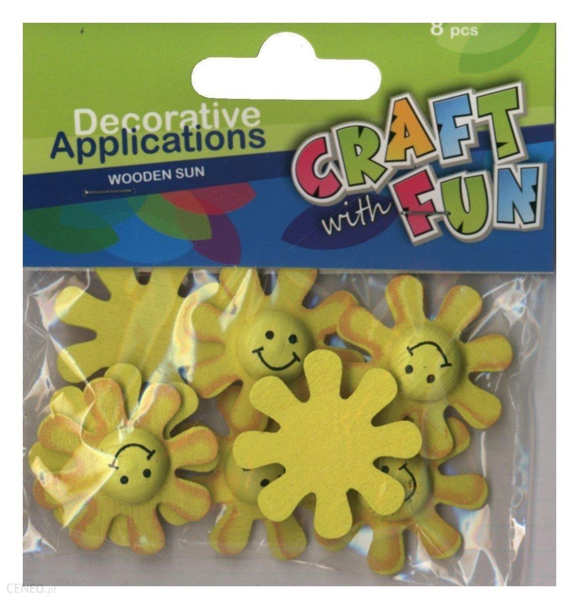 craft with fun aplikacje dekoracyjne drewniane słoneczka 8sztuk