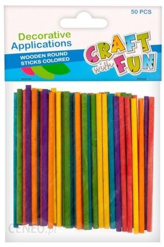 Craft With Fun Ozdoba Dekoracyjna Drew Pat Okragle Kol 24/192 50Szt
