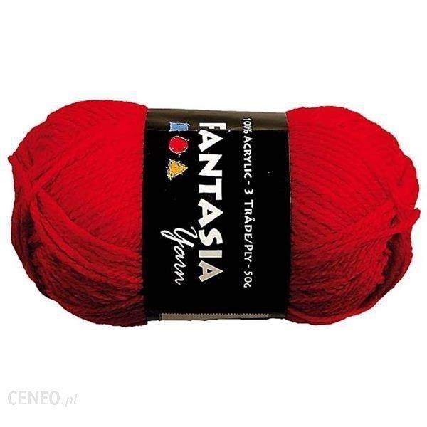 Creativ Włóczka Akrylowa Czerwony