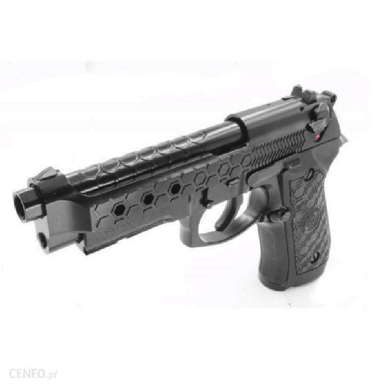 Cybergun Pistolet 6Mm M92 Hex Cut Black Gas Hopup