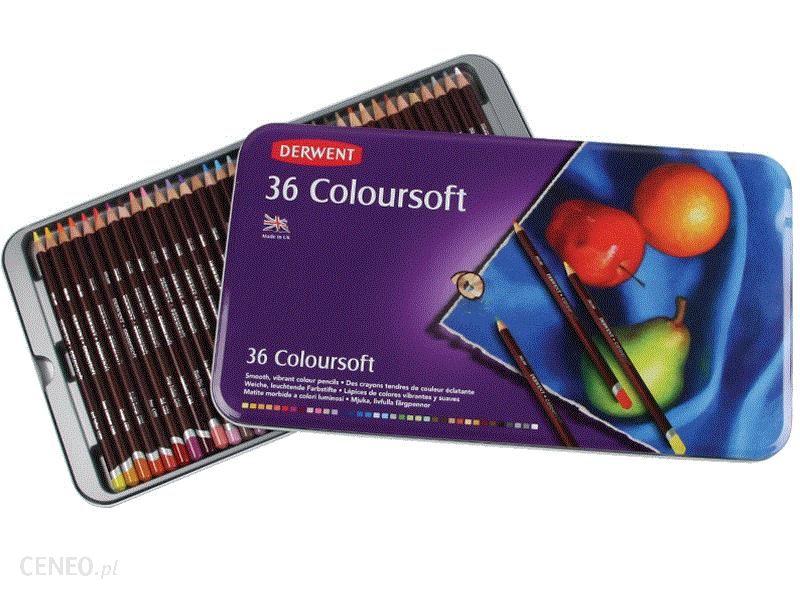 Derwent Kredki Coloursoft 36 Kolorów