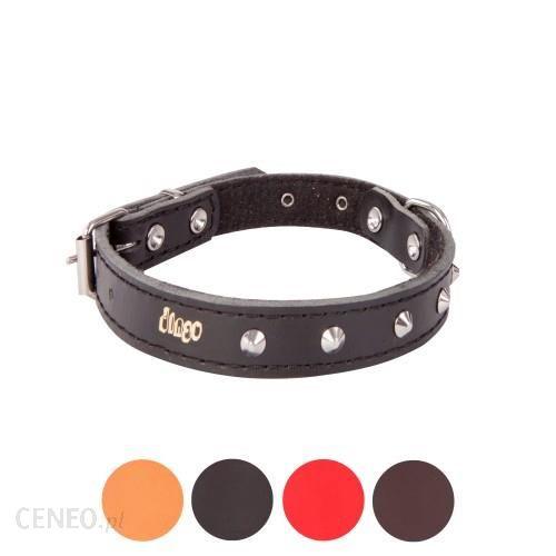 Dingo Obroża ozdobna ze skóry podszyta filcem dla psa CLASSIC 13696