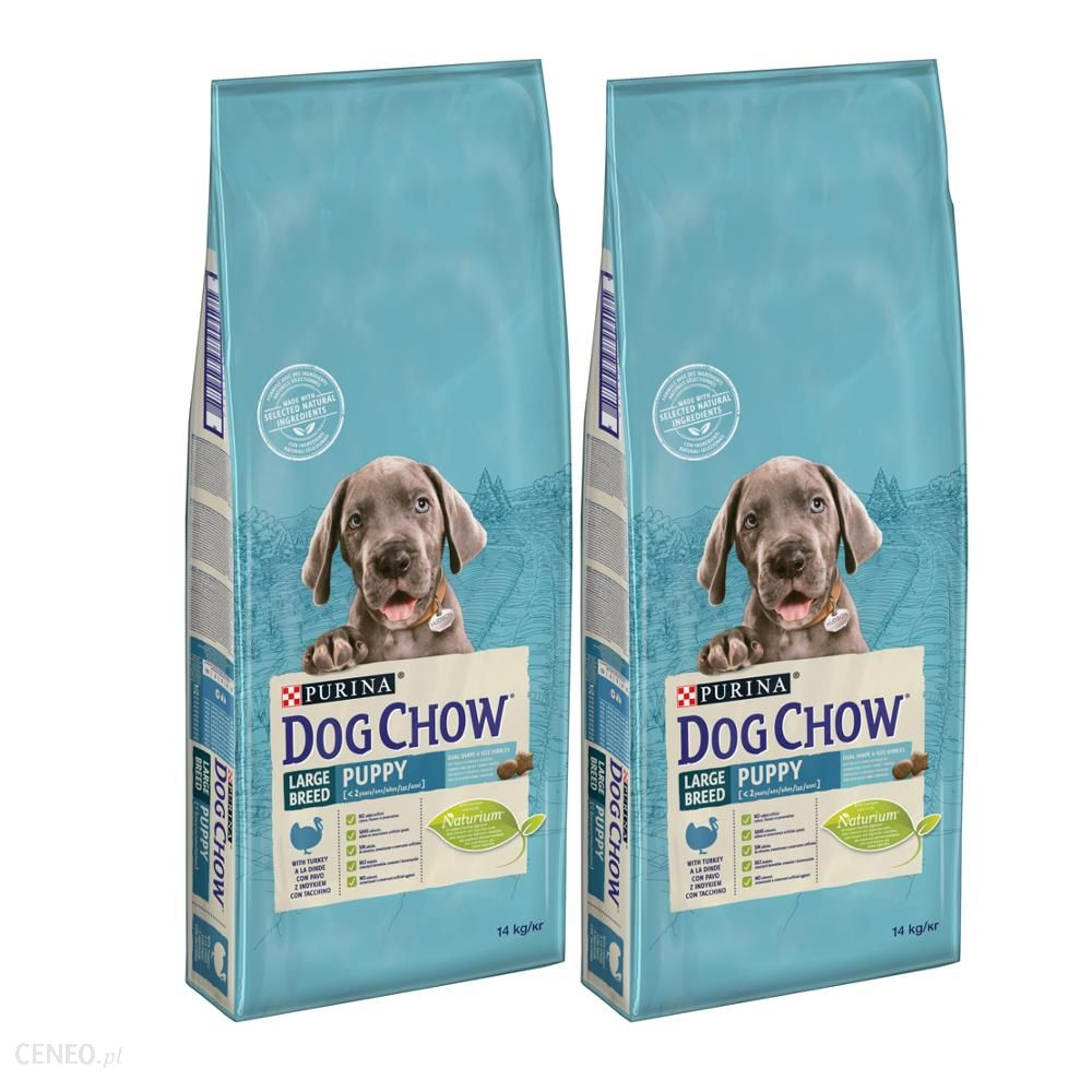 Dog Chow Puppy Large Breed Indyk 2x14kg