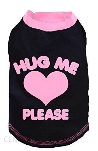 Doggy Dolly Koszulka Hug Me Please Czarna xl 33-35cm/51-53cm