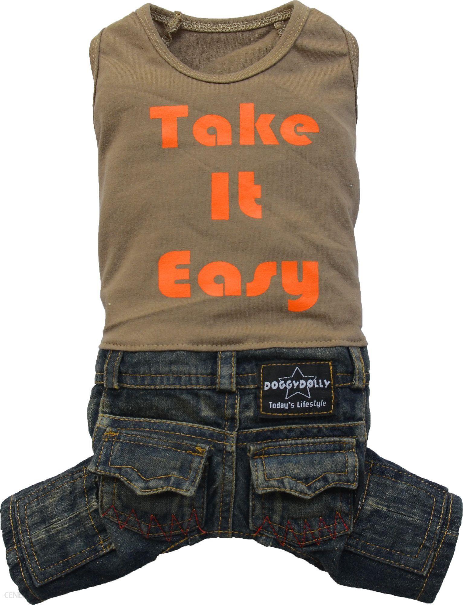 Doggydolly Komplet Jeans Z T-Shirtem Brązowy M 28-30Cm/41-43Cm