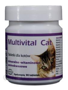 DOLFOS Multivital cat tabletki mineralno-witaminowo-aminokwasowe 90 tab.