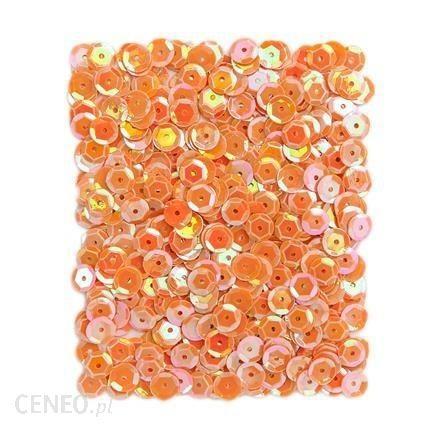 dp craft Cekiny holograficzne 9mm 15g Pomarańczowe dpce081