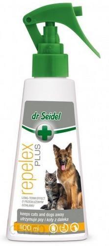 DR SEIDEL REPELEX PLUS płyn odstraszajacy psy i koty spray 100ml 2szt