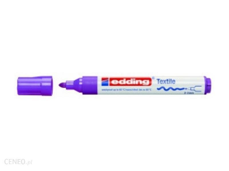 Edding Marker Do Tkanin Okrągła Końcówka 3Mm Fioletowy Fluorescencyjny