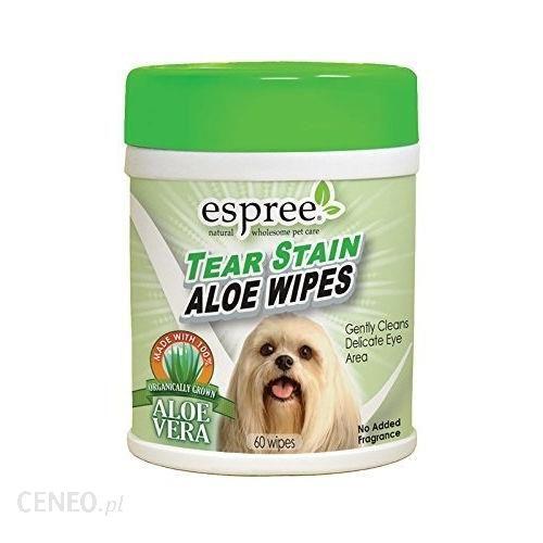 Espree Tear Stain Aloe Wipes chusteczki do usuwania zażółceń i czyszczenia okolic oczu 60szt