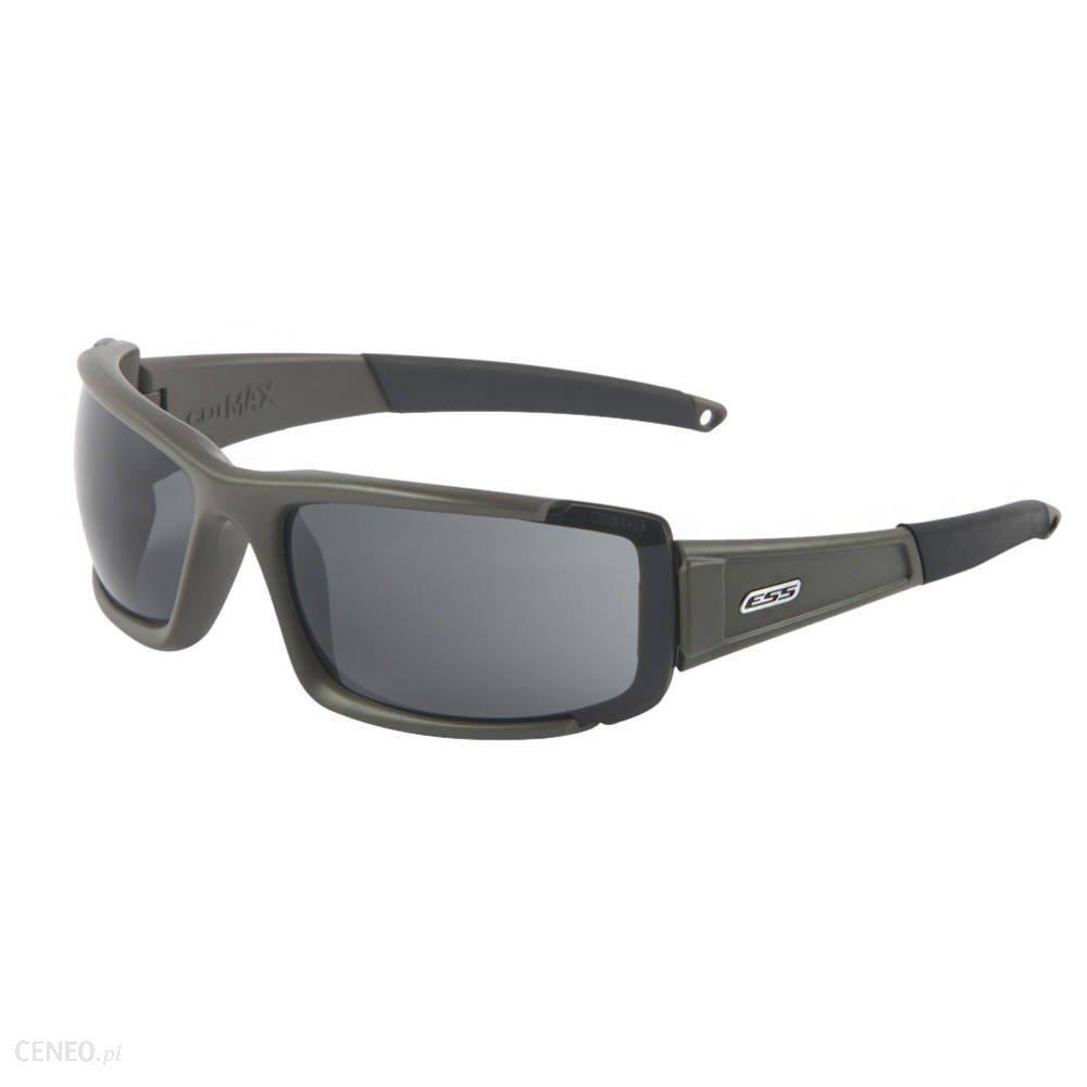 Ess Okulary Balistyczne Cdi Max Matte Olive Przyciemniane Smoke Gray Ee9003-03