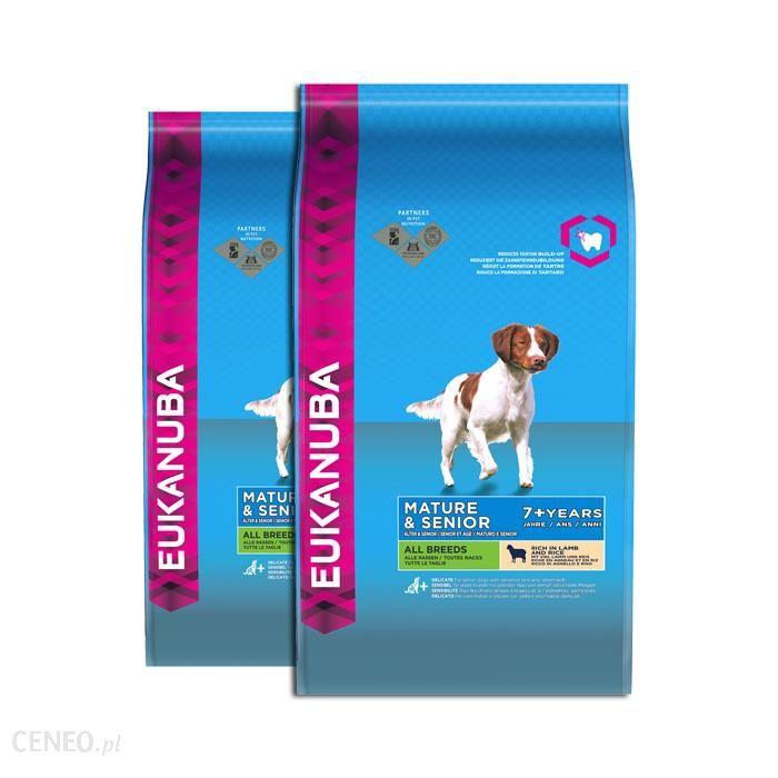 Eukanuba Lifestage Mature & Senior All breeds Bogata w jagnięcinę i ryż 2x12 kg