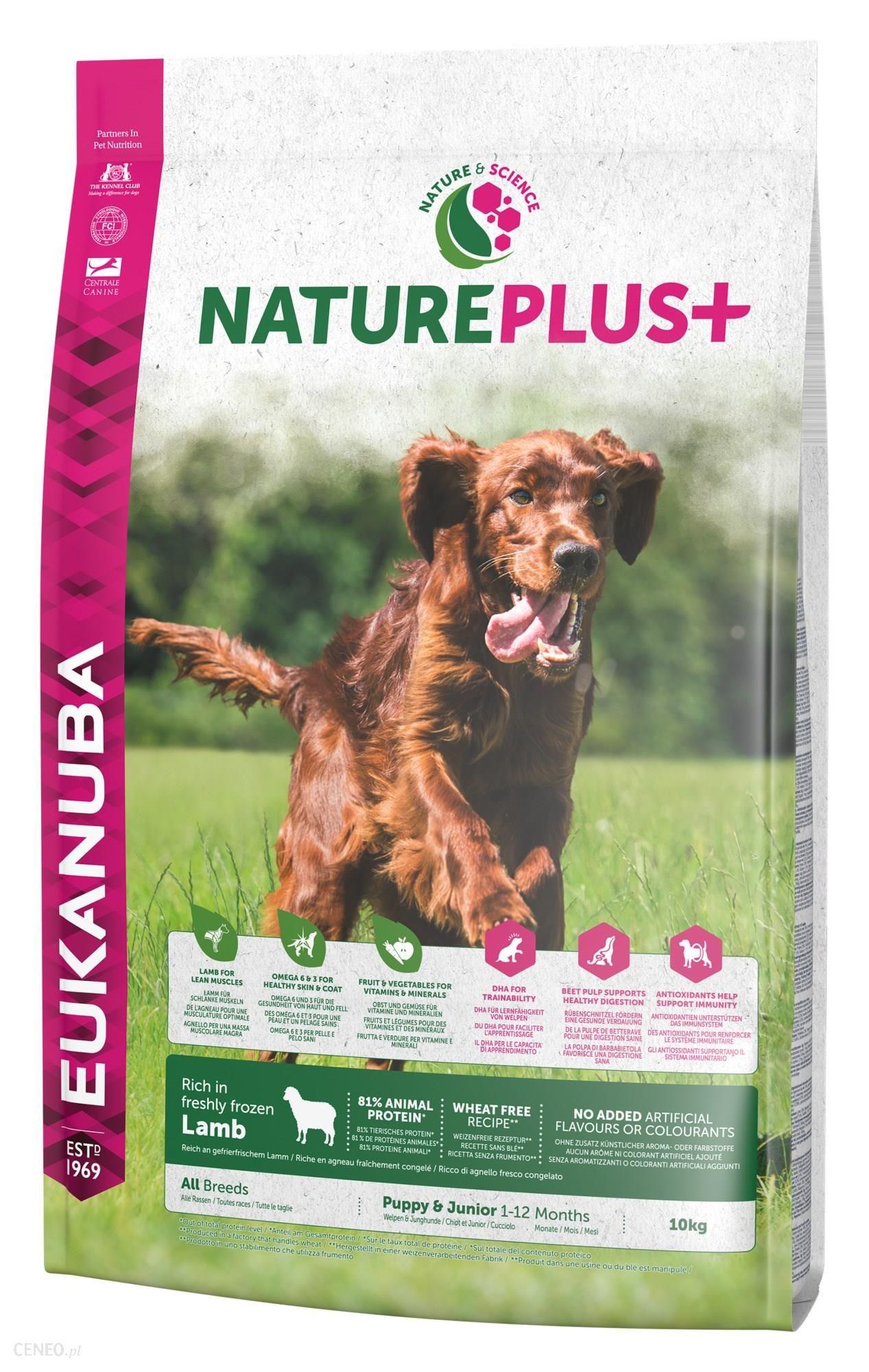 Eukanuba NaturePlus+ Puppy & Junior bogata w świeżo mrożoną jagnięcinę 10kg