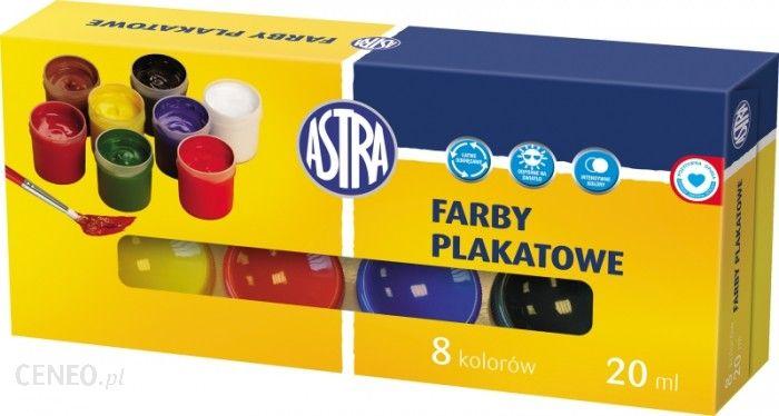 Farby plakatowe ASTRA 8 kolorów 20 ml