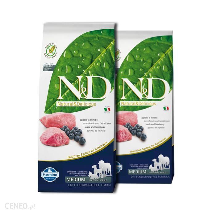 Farmina N & D ADULT Lamb & Blueberry 2x12kg