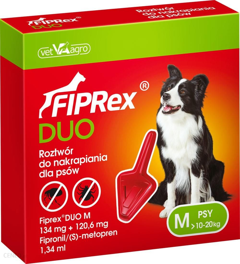 Fiprex Duo Krople M 10-20Kg 1X1