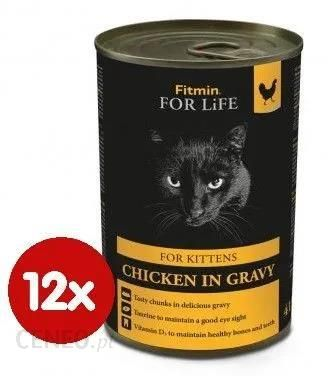 Fitmin Ffl Cat Tin Kitten Chicken Kurczak 12x415G