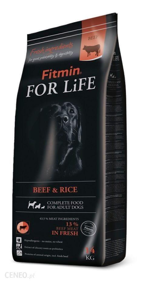 Fitmin For Life Beef & Rice Wołowina I Ryż 14kg