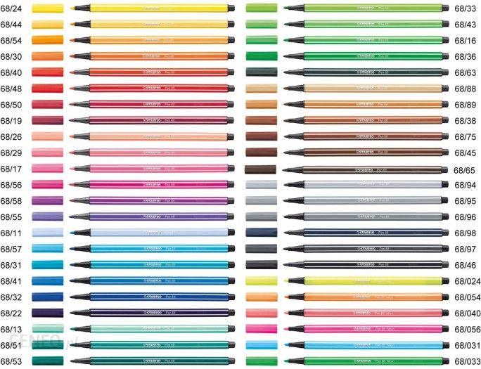 Flamastry STABILO PEN 68 na sztuki Kolor: ciemna ochra