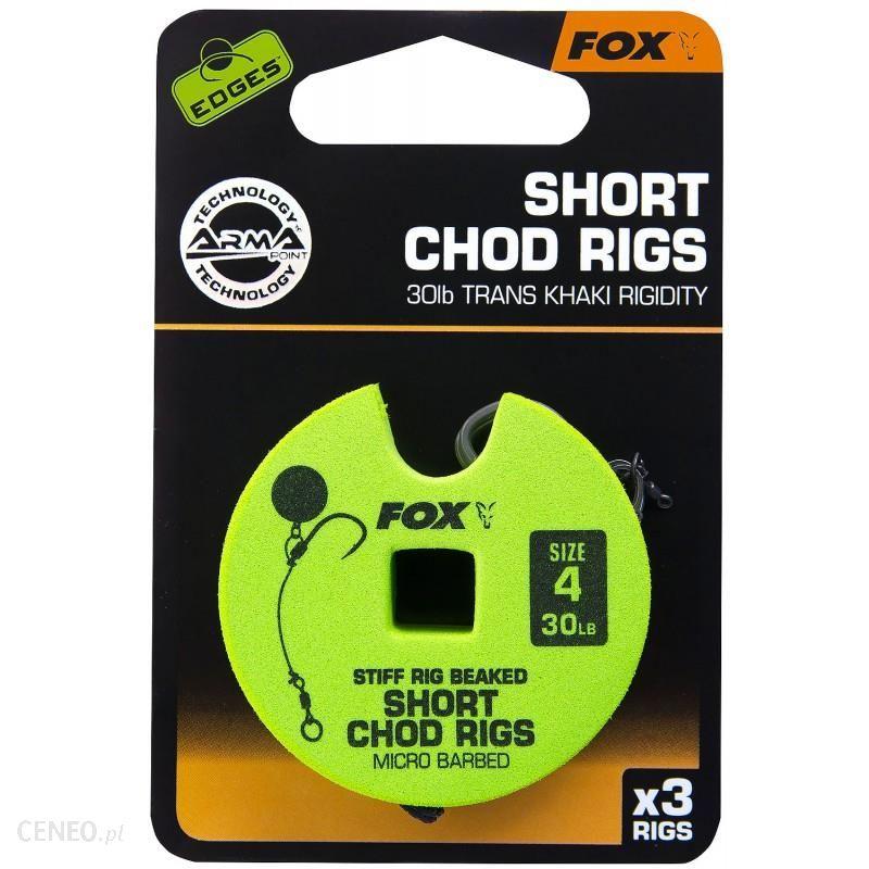Fox Przypon Chod Rigs Short 30Lb Nr4 5Cm 3Szt (Ccr162)