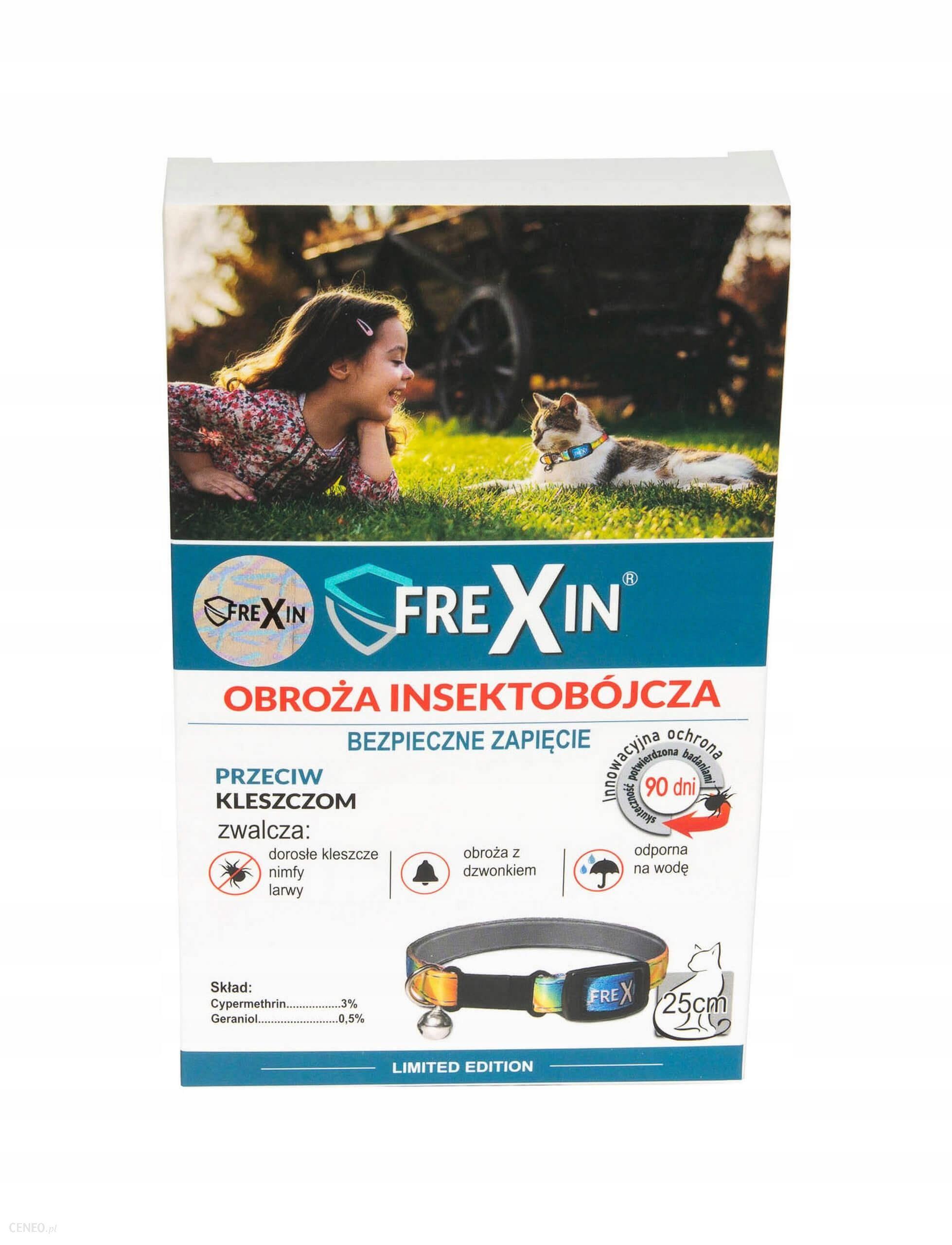 Frexin Obroża owadobójcza z dzwonkiem dla kot 25cm