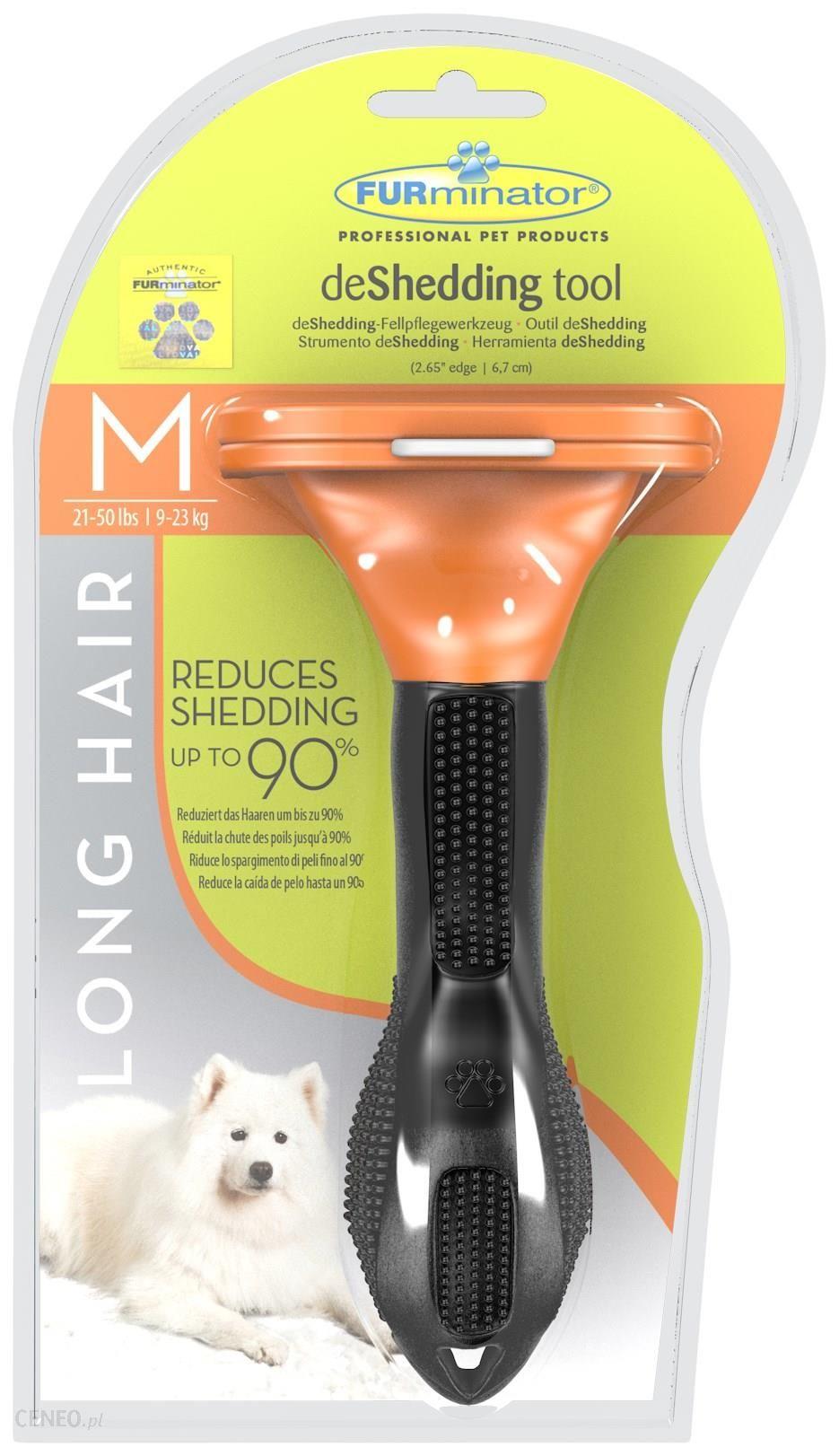 FURminator narzędzie do wyczesywania podszerstka dla psów długowłosych M