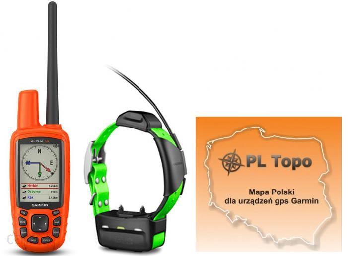 Garmin Alpha 50 z obrożą TT15 + PL TOPO EU TOPO