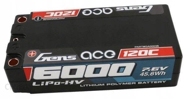 Gens Ace Akumulator 6000Mah 7.6V 120C 2S2P Shorty (B120C60002S2Phc)