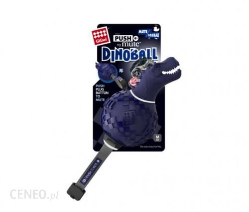 Gigwi Push To Mute Dinoball T-Rex Niebieski