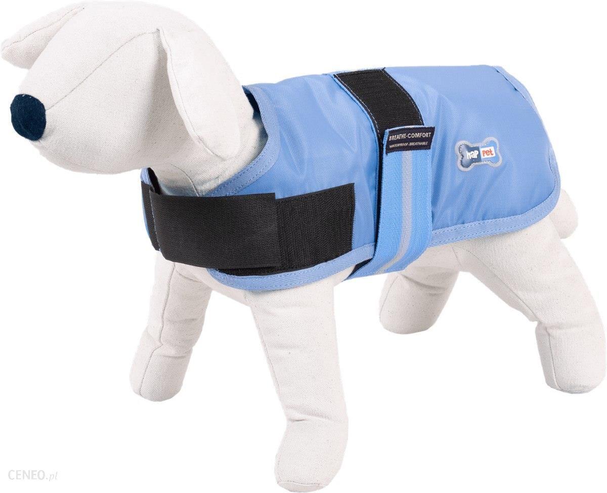 Happet Kurtka kamizelka pies niebieska wodoodporna L60cm