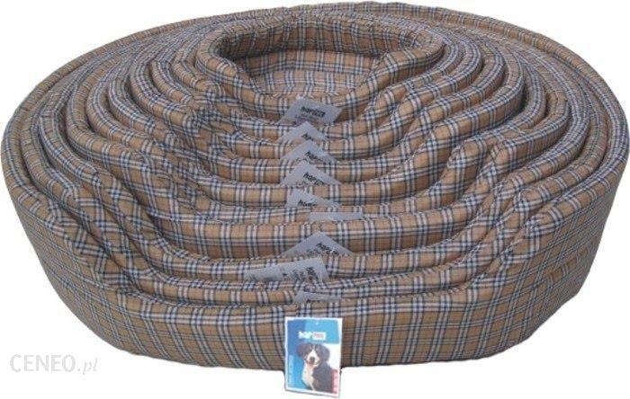 Happet Legowisko dla psa 57x46x17cm brązowa krata