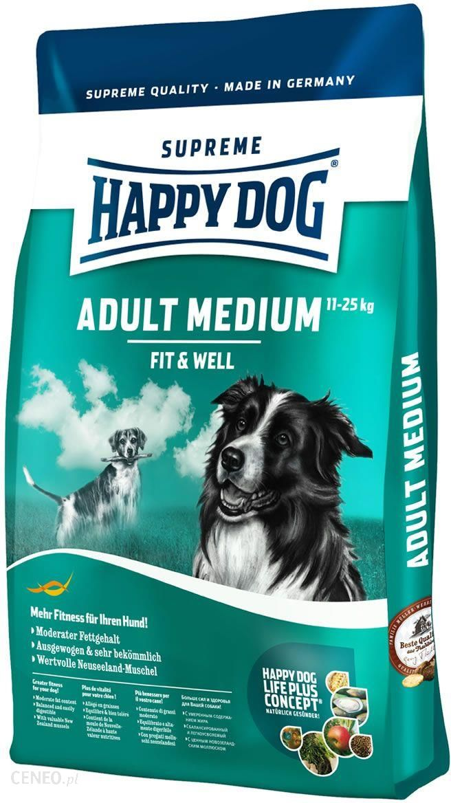 Happy Dog Fit And Well Adult Medium 300G