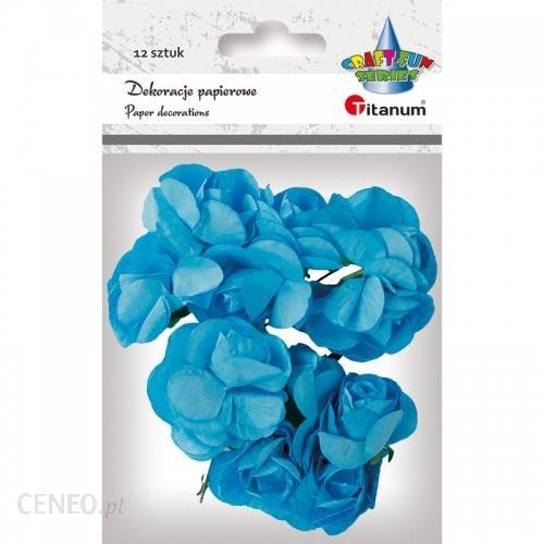 Hasta Ozdoba Dekoracyjna Kwiaty Pap 396490 Niebieski 12Szt Pbh