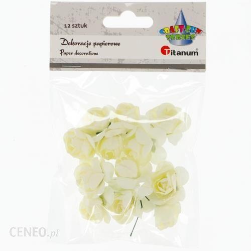 Hasta Ozdoba Dekoracyjna Kwiaty Pap 396494 Krem 12Szt Pbh