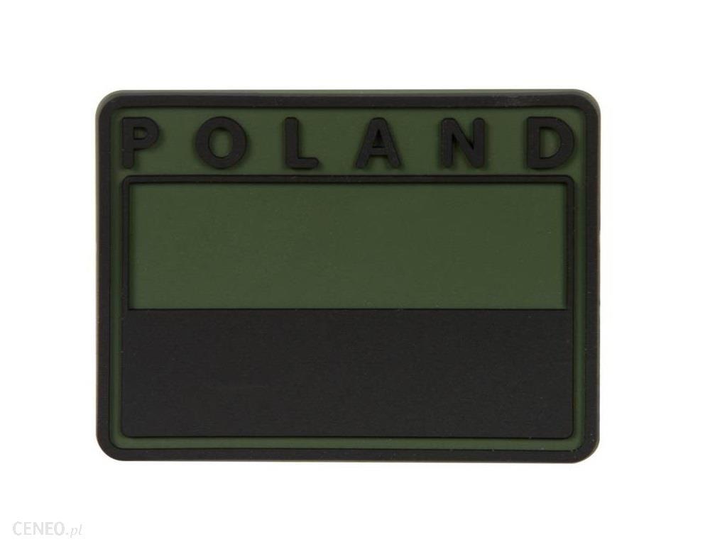 Helikon Emblemat Velcro Flaga Polska Pvc Gaszona Olive Green (Odfp4Rb02) H