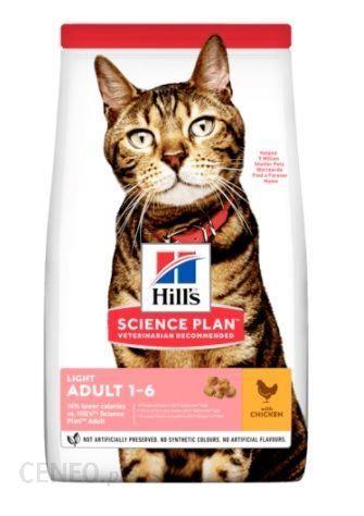 Hills Science Plan Adult Light Cat Kurczak 10Kg