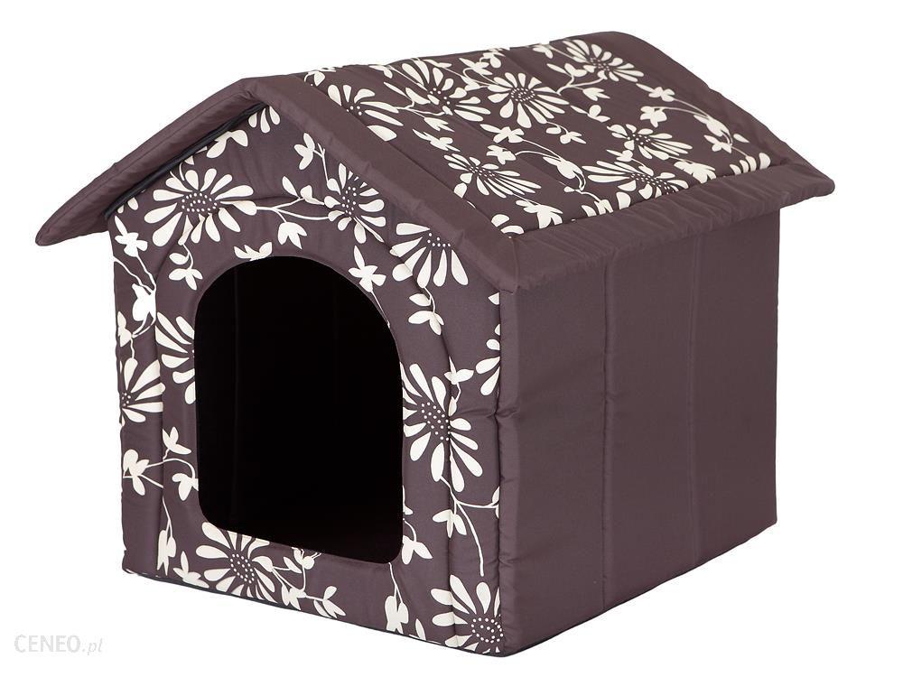 hobbydog domek BUDA Brąz w Kwiaty 60x55x60cm R4