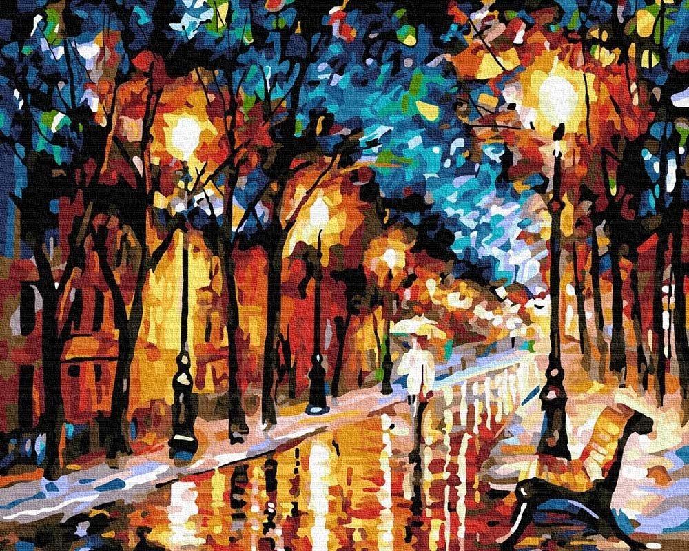 Ipicasso Park Miejski w Nocy Malowanie po numerach 40x50 cm