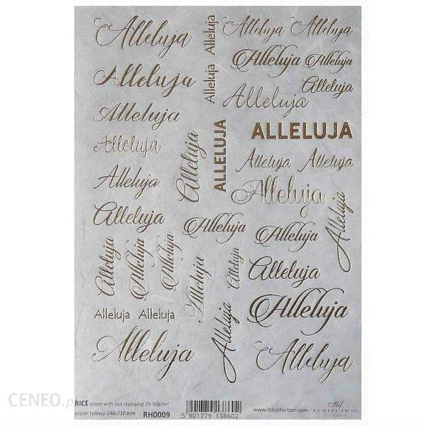 Itd Collection Papier Ryżowy Itd A5 Rh0009 Alleluja Złoty