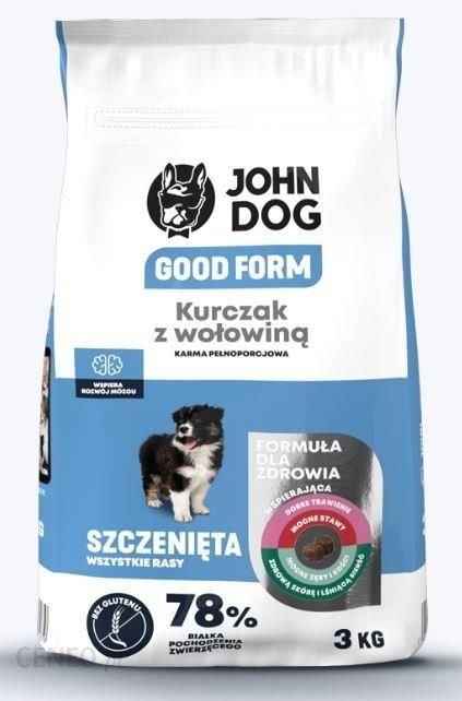 John Dog Good Form Kurczak Z Wołowiną Szczeniak Małe Rasy 3kg