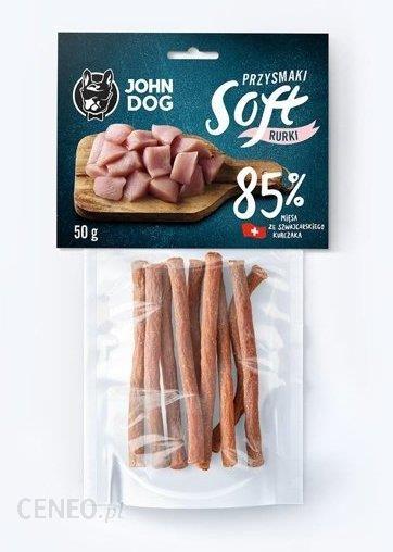 John Dog Rurki Soft Kurczak Szwajcarski 85% 50G