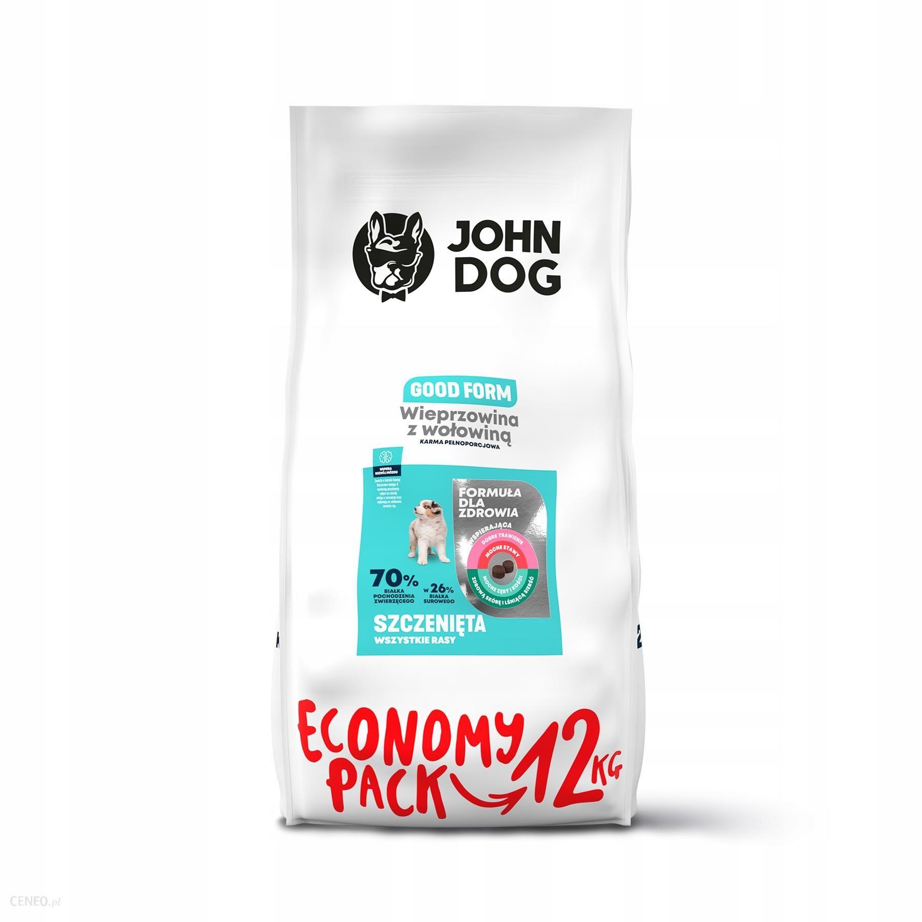 John Dog Szczeniak Wieprzowina Wołowina 12Kg